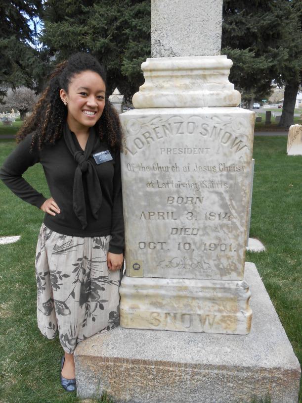 Tombstone of Pres. Lorenzo Snow