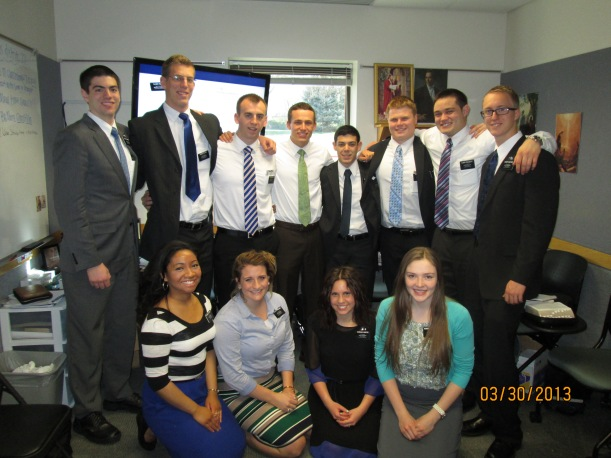 Eishelle's district on their last day at the MTC.