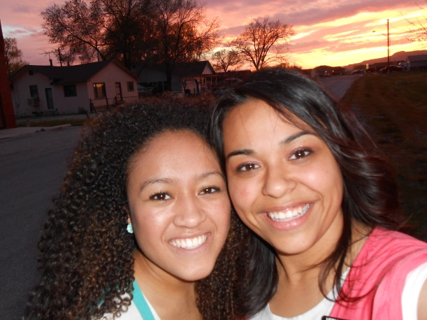 Hermana Whitney and Hermana Murillo