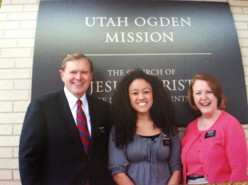 Hermana Whitney with Pres and Sister Hiers