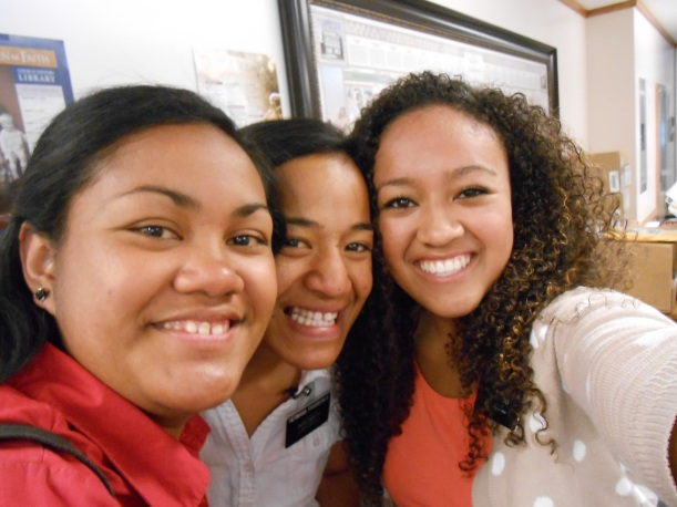with polynesian sister missionaries