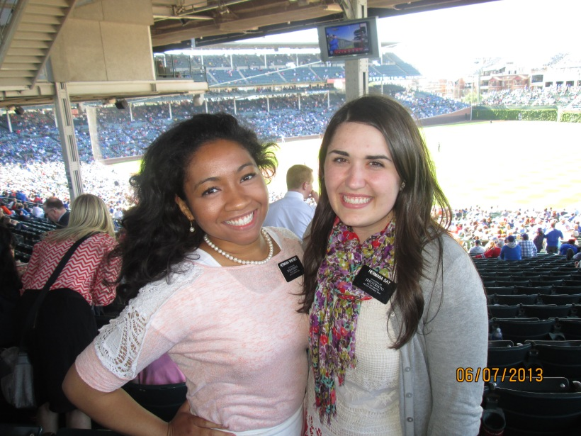 At the cubs game with MTC friend