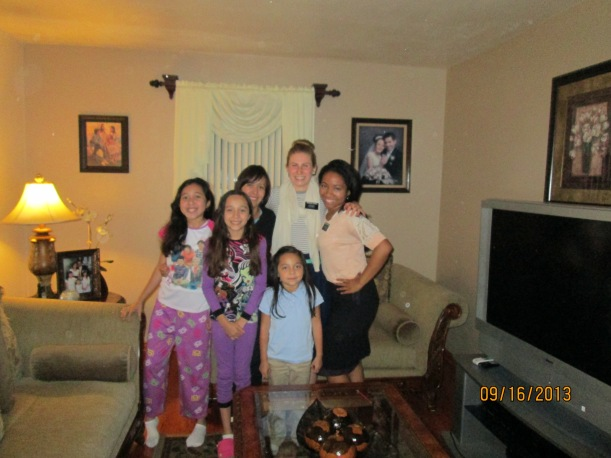 With the Rodriguez family (Branch President's wife) Pres. took the picture. Last time they'll see Hna Russon