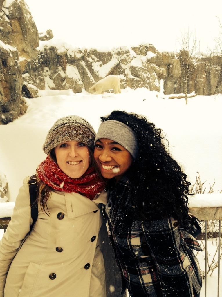 Hna Jones, yo and a polar bear!!!