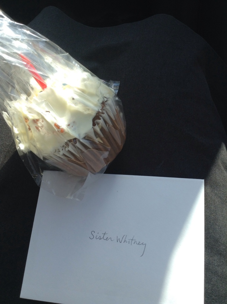 My first cupcake and card for my 22nd from Pres. And Sis. Woodbury :)