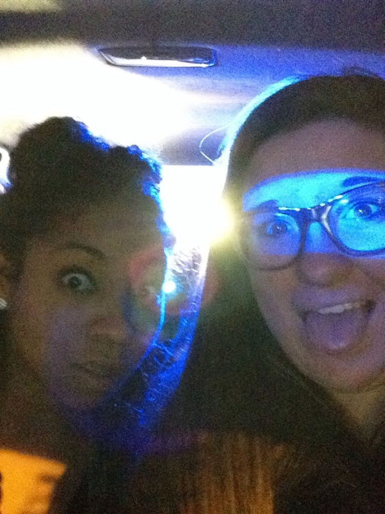Pulled over cuz a head light was out. But hey, we gave the cop a Restoration pamphlet. Who can honestly say that??? Best picture ever.  No the cop did not give us a ticket.