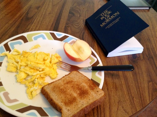 Sister Hone made me breakfast, before our exchange ended. Sweet girl. This is all the food I need in the morning :) Including the word.