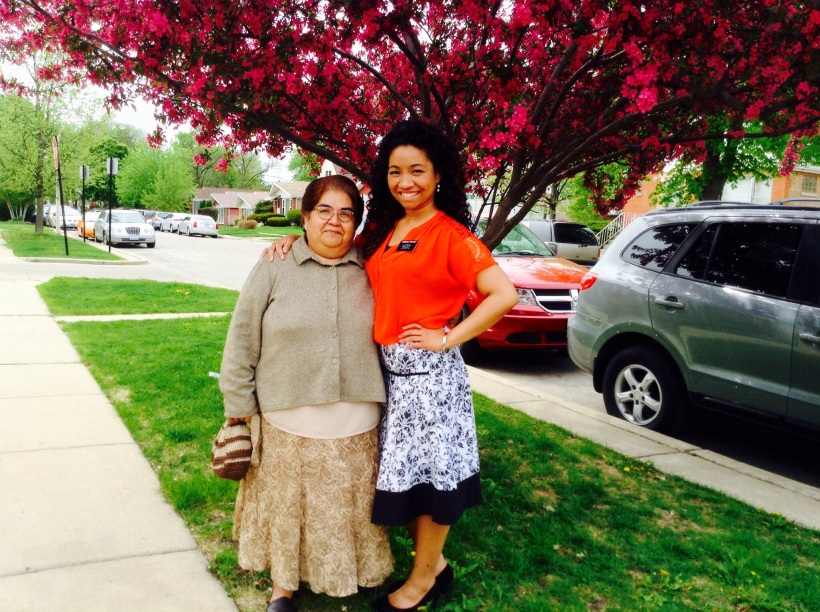 "Hermana Velez and me! I was walking her to the car and and she stopped and said, ""Let's take a picture!"" Yes, ma'am!"