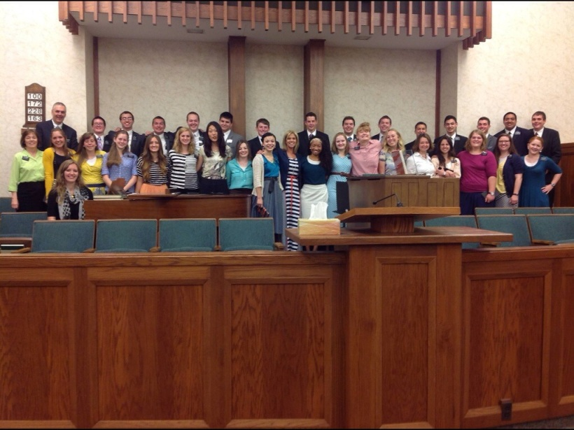 Valparaiso Zone!!! Right after we sung a song for all visiting us missionaries :)