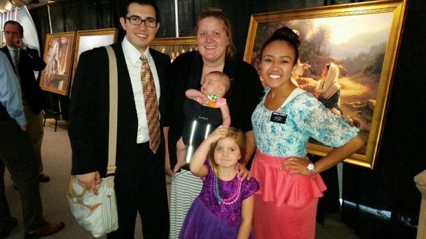 Michael DeRosa (my friend from primary in NY and his family) attended the Ogden temple open house.